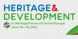 Banner of the 6th Central European Heritage Forum with the dates: June 16-18, 2021