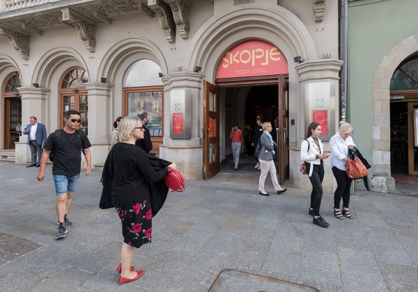Opening of the exhibition  Skopje....  09/07/2019, photo, P. Mazur