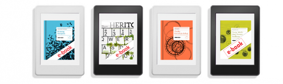 E-book readers with the covers of ICC publications